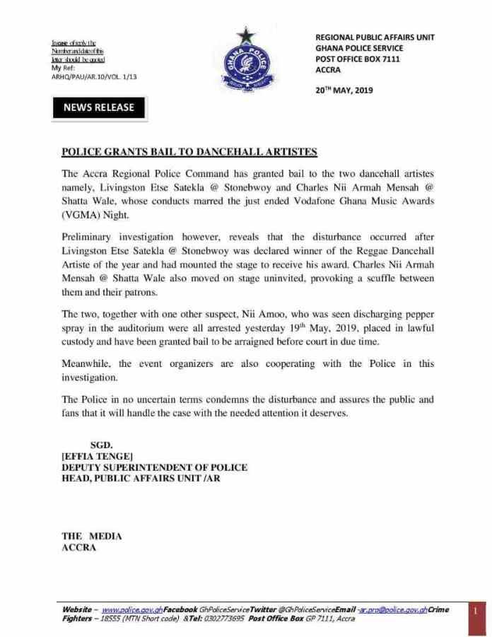 Shatta Wale & Stonebwoy Granted Bail 2