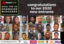 2020 Top 50 Ghanaian Bloggers new entrants