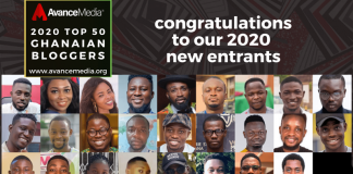 2020 Top 50 Ghanaian Bloggers new entrants
