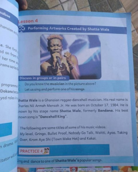 Shatta Wale Text Book